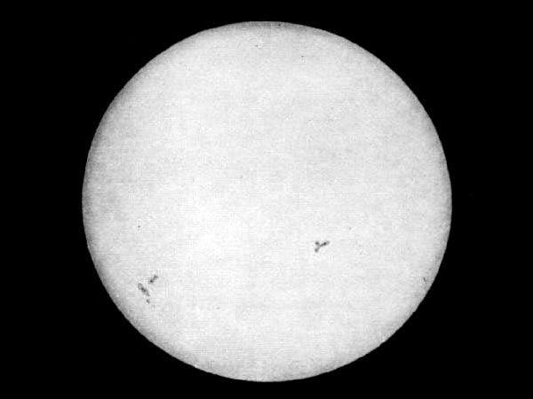 W 1845 roku wykonano pierwszą fotografię Słońca